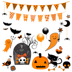 halloween cute elements