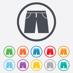 Men's Bermuda shorts sign icon. Clothing symbol.