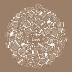 Coffee tea background
