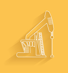 Oil industry symbol,clean vector