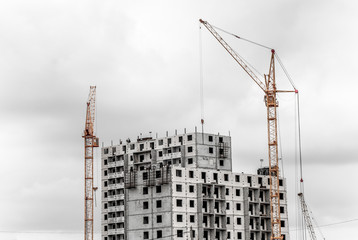 Construction of the new building
