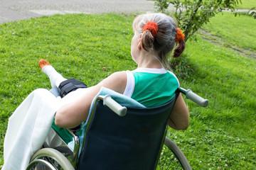 Einsam im Rollstuhl