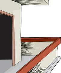 Isolated Patio Doorway