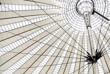 Modern stadium's architecture ceiling