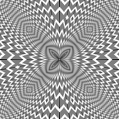 Abstract backdrop with optical illusion effect. Vector art.