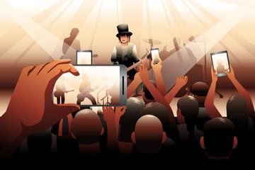 People in concert scene