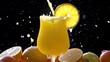 Orange Freshness in a Glass