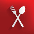 Spoon design on red background,clean vector