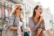 Two Women Enjoying. Selective focus on brunette. - 71282179