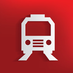 Train design on red background,clean vector