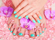 canvas print picture - manicure and pedicure