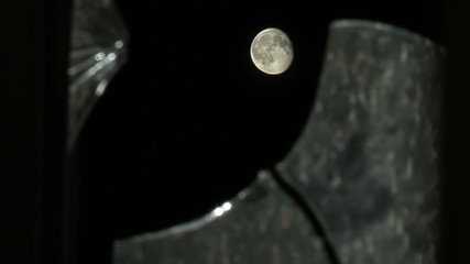 Moon and broken glass