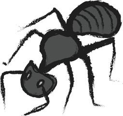 doodle big forest black ant