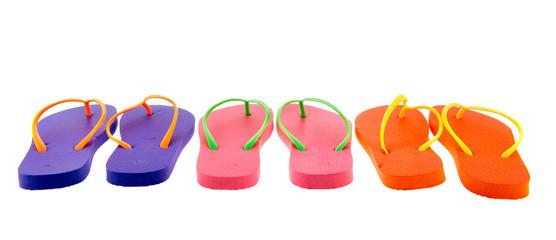 Colorful flip flops