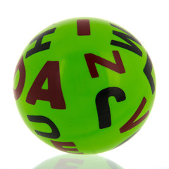 Green toy ball