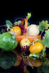 group of various kind of ripe pumpkinies