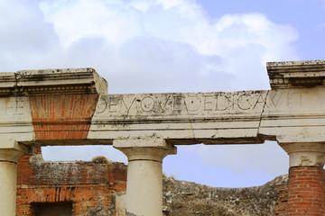 Roman Colonnade - Pompeii