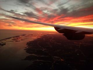 New York aereo tramonto Long Island Long Beach Hamptons