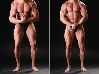 Handsome muscular bodybuilder