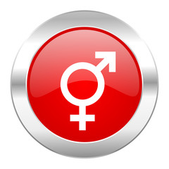 sex red circle chrome web icon isolated