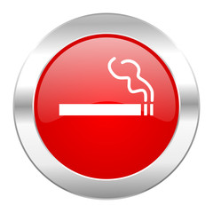 cigarette red circle chrome web icon isolated