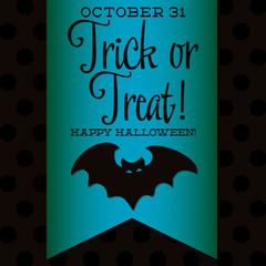 Bat Halloween sash card in vector format.