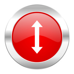 arrow red circle chrome web icon isolated