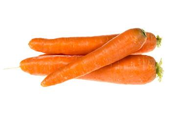 Three carrots isolated