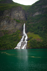 waterfall fjord