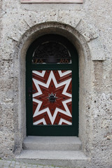 One of Hohensalzburg Castle doors with 16th century ornament