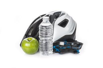 Casco gafas y dieta sana para mountain bike con seguridad