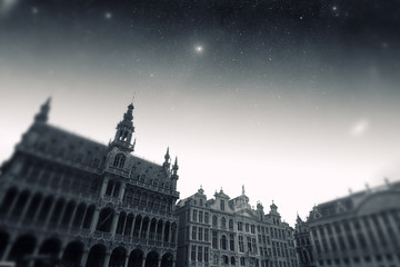 Brussels night. Elements of this image furnished by NASA