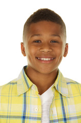 Headshot of a Handsome African American Boy