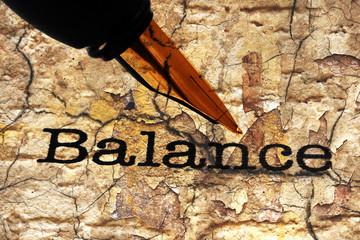 Fountain pen on balance text