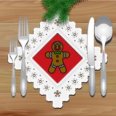 Christmas Napkin Table