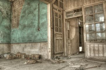 Green Deserted Room