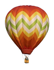 Hot-Air Balloon Floating Against White