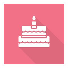 Birthday cake symbol