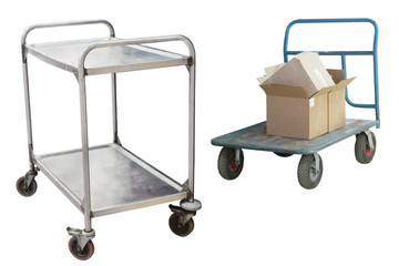 Luggage trolley isolated