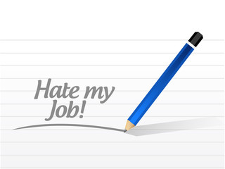 hate my job message illustration design