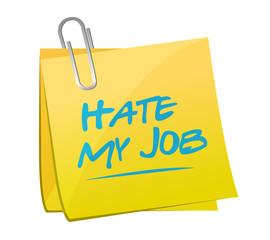 hate my job memo post illustration