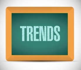trends chalkboard sign illustration