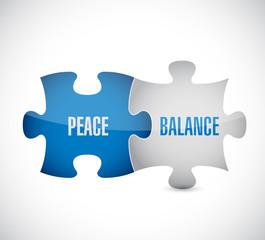 peace balance puzzle pieces illustration design