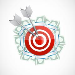 money target illustration design