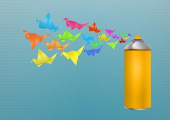 origami spray