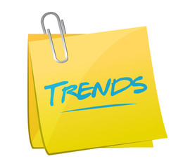 trends post memo illustration design