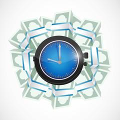 time means money concept illustration