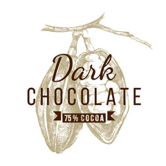 dark chocolate logo template