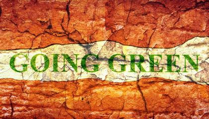 Going green grunge concept