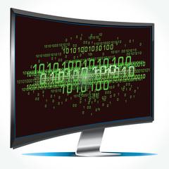 Binary Numbers on Screen